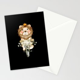 Amazing Cute Lion Watercolor Design Stationery Cards