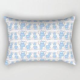Blue Bell and Cloud Rectangular Pillow