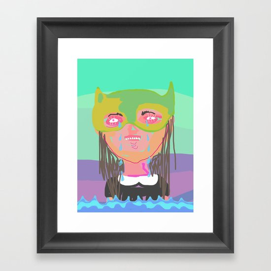 I am the ocean Framed Art Print