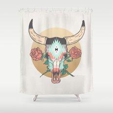 cráneo de vaca Shower Curtain