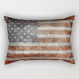 Grungy US flag Rectangular Pillow