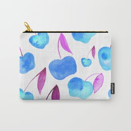 Watercolor cherries - blue and purple Carry-All Pouch