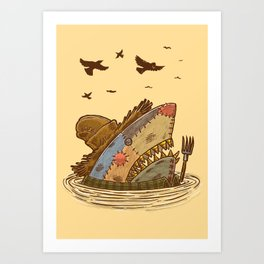 The Scarecrow Shark Art Print