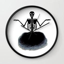 Skeleton Ghost Wall Clock