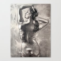 Behind Your Beauty Canvas Print