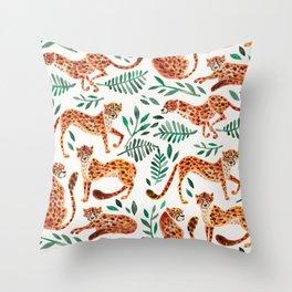 Cheetah Collection – Orange & Green Palette Throw Pillow