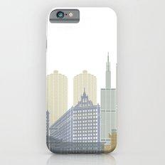 Chicago skyline poster iPhone 6s Slim Case