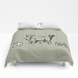 Bone Boycott | Green Tan Comforters