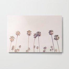 Sunny Cali Palm Trees Metal Print