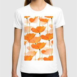 Orange Poppies On A White Background #decor #society6 #buyart T-shirt