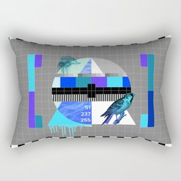 Waiting for the show to begin (Test Pattern 4) Rectangular Pillow