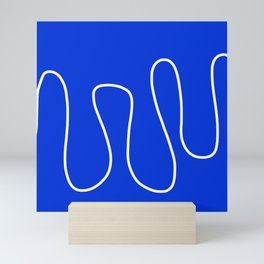 Blue Abstract Wave Mini Art Print