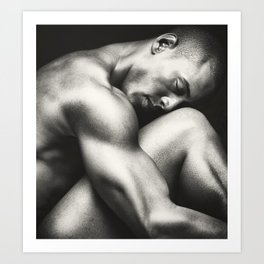 """Male Nude in Repose"" Art Print"