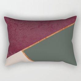 Burgundy Olive Green Gold and Nude Geometric Pattern #society6 #buyart Rectangular Pillow