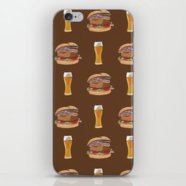 Burgers and Beer iPhone Skin
