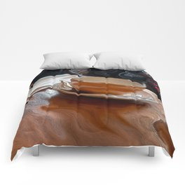 Coffee Shop Newspaper Comforters