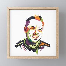 Elon Musk on WPAP Framed Mini Art Print