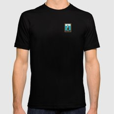 Portrait of a Perky Pelican Black MEDIUM Mens Fitted Tee