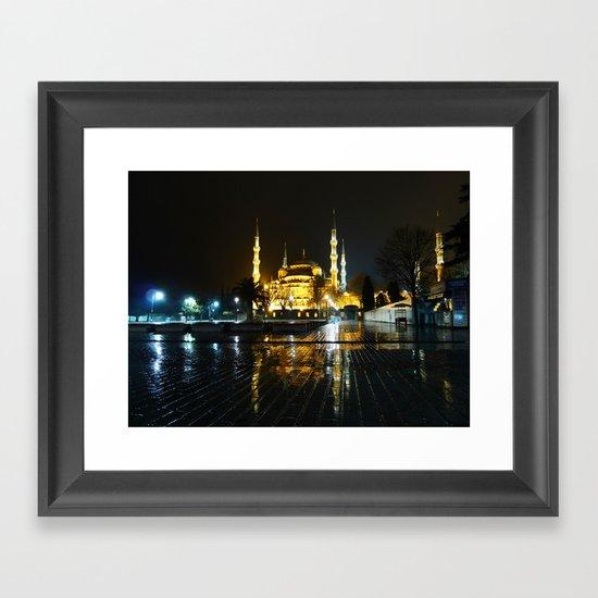 Istanbul night (Turkey 2013) Framed Art Print