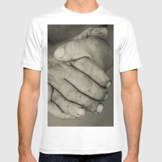 manos trabajadoras MEDIUM White Mens Fitted Tee