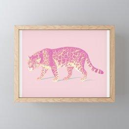 Pink Jaguar Painting Framed Mini Art Print