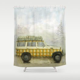 Plaid Land Cruiser Shower Curtain