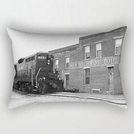 Train and Sherwood Hotel Rectangular Pillow