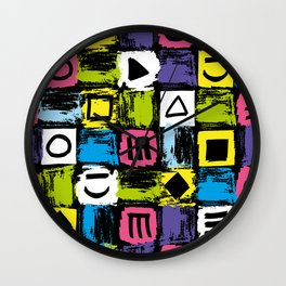 Fashion Patterns Shell-Shocked Wall Clock