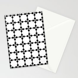 Droplets Pattern - White & Black Stationery Cards