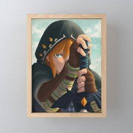 Link botw Artwork Framed Mini Art Print