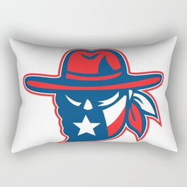 Texan Outlaw Texas Flag Mascot Rectangular Pillow