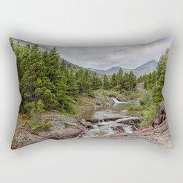 Upper Redrock Falls - Glacier NP Rectangular Pillow