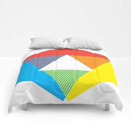 Color Wheel print, Color Chart Rainbow design by Christy Nyboer / Little Lark Comforters