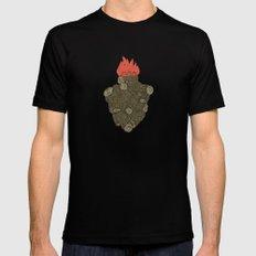 Endure Burning - Viktor Frankl Quote - wood heart Mens Fitted Tee MEDIUM Black