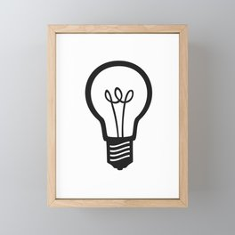 Simple Light Bulb Framed Mini Art Print