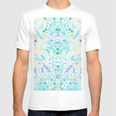 Pastel Flowers  Mens Fitted Tee MEDIUM White