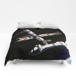 Space Shuttle Space Station Mir Dock Comforters
