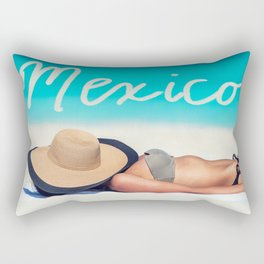 Mexico beach suntan Rectangular Pillow