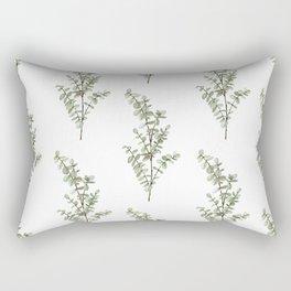 Baby Blue Eucalyptus Watercolor Painting Rectangular Pillow