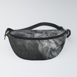 Black Print Lion Fanny Pack