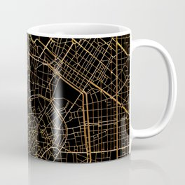 Black and gold Milan map, Italy Coffee Mug