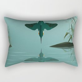 Diving into the water Rectangular Pillow