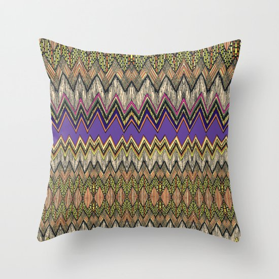zig-zag fun! Throw Pillow