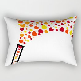Chic Preppy Chic Test Tube Hearts Rectangular Pillow