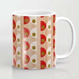 Butterflies Mod Textured Red Coffee Mug