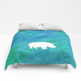 hippo cutout Comforters