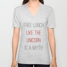 FREE LUNCH 1 Unisex V-Neck