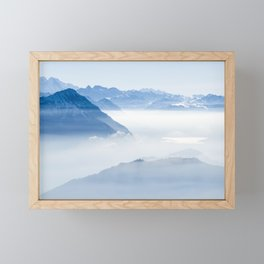Swiss Alps Panorama Framed Mini Art Print