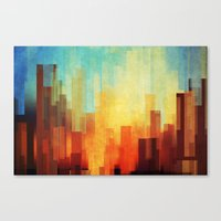 contact Canvas Prints featuring Urban sunset by SensualPatterns