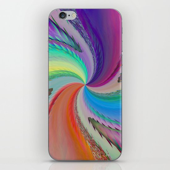 Abstract forms and colours iPhone & iPod Skin